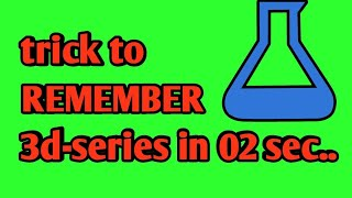 TRICK TO REMEMBER TO 3d-SERIES## periodic table##FOR BOARS EXAM