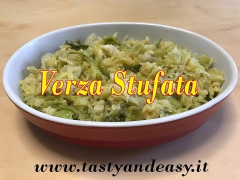 Verza Stufata - Ricetta Vegetariana Semplicissima