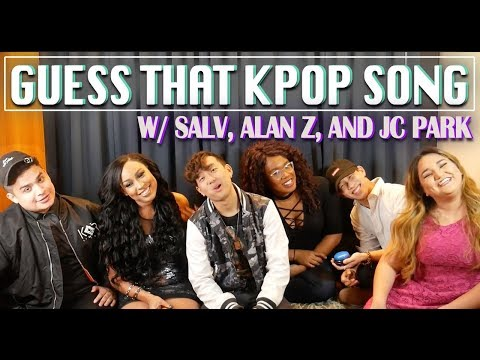 GUESS THAT KPOP SONG [W/ SALV, ALAN Z AND JC PARK] || TIPSY KPOP