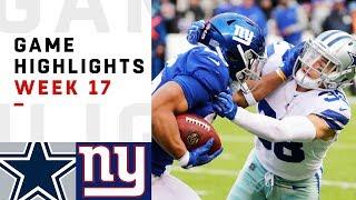 Cowboys vs. Giants Week 17 Highlights | NFL 2018