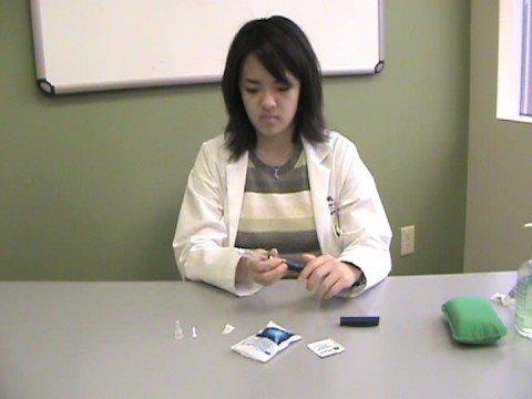 Un dispositivo para medir chek acumulador de azúcar en sangre