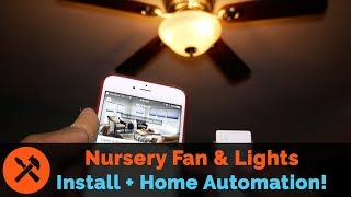 Smart Ceiling Fan Installation with Lutron Caseta Lights and Home Automation!