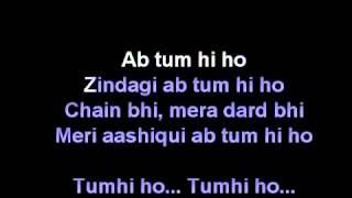 Tum Hi Ho Karoke With Lyrics - Aashique 2 Hindi Movie ( With Out Vocal)