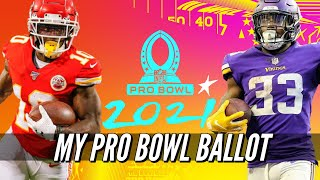 My 2021 NFL PRO BOWL VOTES | 2020-2021 NFL Season