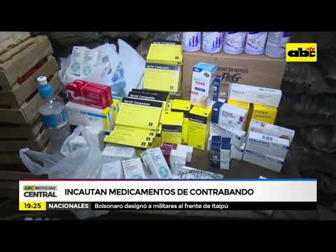 Incautan medicamentos de contrabando