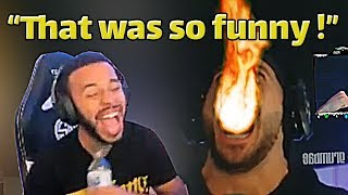 """Hamlinz Reacts to Our Nickmecrs Montage """"We Enhanced Nickmercs with this Fortnite Edit"""""""
