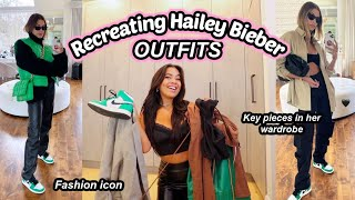 I tried recreating HAILEY BIEBER'S outfits! Huge princess polly haul!
