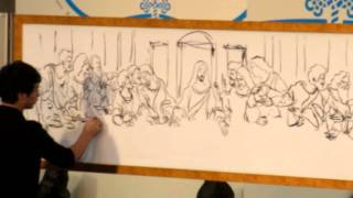 Amazing Art Performance - The Last Supper