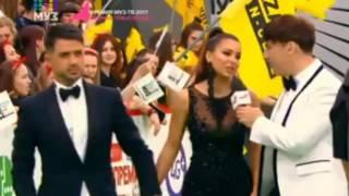 Ани Лорак с мужем на ковровой дорожке премии Муз тв 09 06 2017