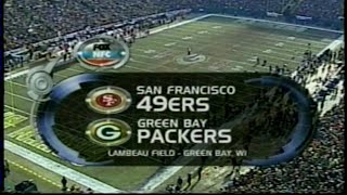 2001 NFC wild card 49ers vs Packers Fox intro