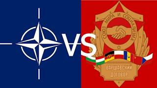 Cold War Alliances Mapped - NATO vs Warsaw Pact
