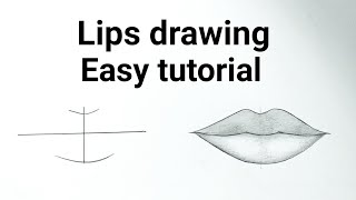 How To Draw Lips Easy Step By Step For Beginners Drawing Lips Easy Drawing Tutorials For Beginners