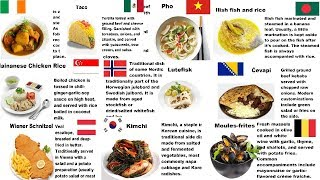 Countries And Their National Dishes - Part 4