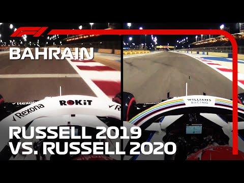 ジョージ・ラッセルの走りを昨対比で比較したオンボード映像。F1 バーレーンGP