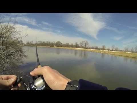 Early Prespawn Pond Bassin 3/18/14