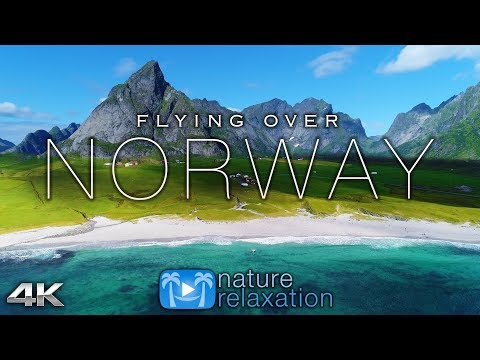FLYING OVER NORWAY (4K UHD) 1HR Ambient Drone Film + Music by Nature Relaxation™ for Stress Relief
