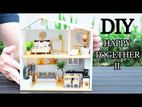 DIY Miniature Dollhouse Kit || Happy Together 2 ( With Full Furniture & Light )