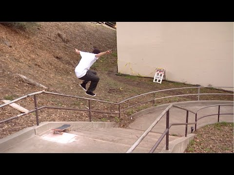 Image for video Chase Webb  Feeble Berkeley Curved Rail | Rough Cut X-Games Real Street 2019