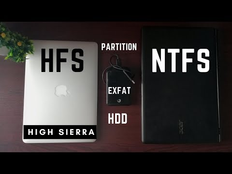 Format external HDD for mac and windows ( EXFAT) | Partition HDD for Time Machine| High Sierra