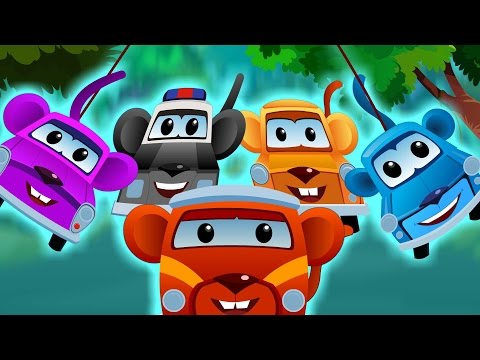 Zeek And Friends In And As The Five Little Monkeys | Car Songs And Rhymes