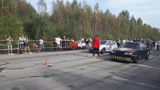 ВАЗ 2114 vs. Renault Clio Sport 2.0.  Закрытие сезона ROUTE 402. 8.09.2018.