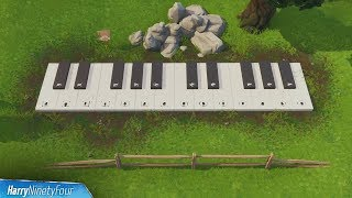 Visit an Oversized Piano Location & Play the Sheet Music Guide - Fortnite