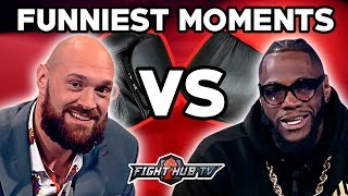 THE FUNNIEST MOMENTS FROM THE DEONTAY WILDER VS TYSON FURY PRESS TOUR