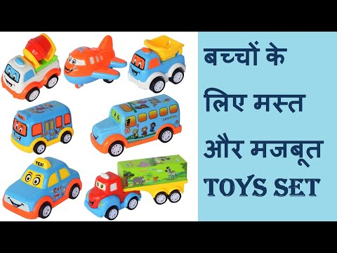Unbreakable Friction Powered Pull Back Push & Go Automobile Car Taxi, Bus,Truck Toys for Kids Review