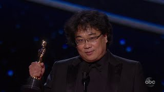 Bong Joon Ho Accepts the Oscar for Directing