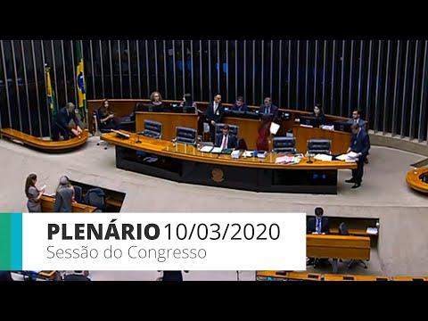 Sessão do Congresso Nacional - Discussão e votação de vetos - 10/03/20 - 14:50