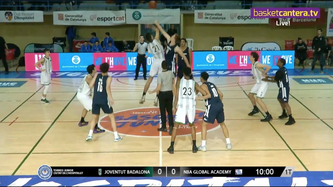 Live - U18M - JOVENTUT BADALONA vs NBA GLOBAL ACADEMY.- Torneo Junior L´Hospitalet 2020