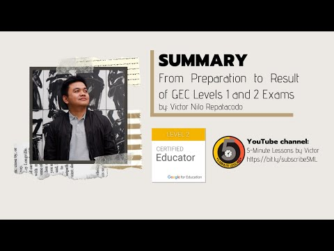 SUMMARY From Preparation to Result of Google Educator ...
