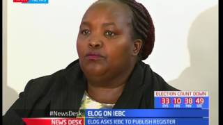 ELOG asks IEBC to publish voter register