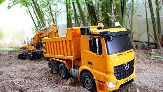 [30분] 중장비 자동차 장난감 모래놀이 포크레인 덤프트럭 전동차 연속보기 Video for Kids Car Toy Play Excavator Power Wheels