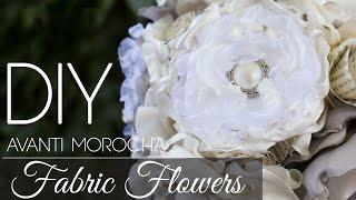 DIY Fabric Flowers Burning Method/ Flores De Tela / Rosas Quemadas