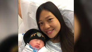 Widow of NYPD cop gives birth to their child years after his death