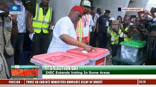 Elections: Wike Votes In Port Harcourt, Commends INEC