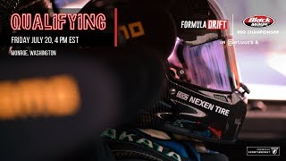 Formula Drift Monroe - Qualifying LIVE!
