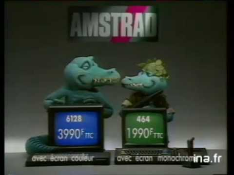 Amstrad CPC 6128 and 464 and TVTuner (80's French Advertisement)