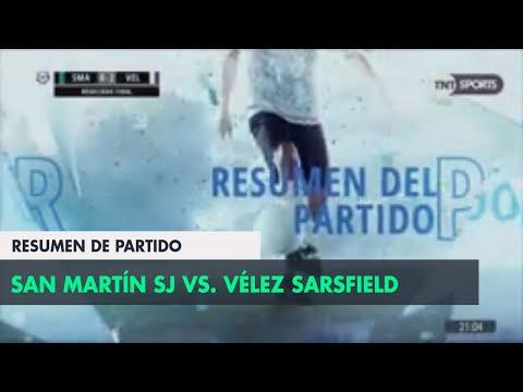 Сан-Мартин Сан-Хуан - Велес Сарсфилд 0:2. Видеообзор матча 05.05.2018. Видео голов и опасных моментов игры