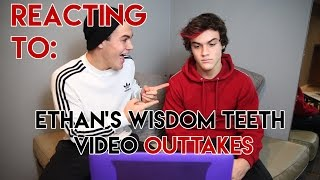 Reacting To 'Ethan Gets His Wisdom Teeth Removed' !!