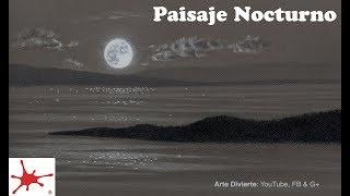 Cómo Dibujar Un Paisaje Nocturno Con La Luna