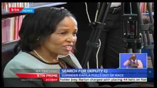 KTN News: Lady Justice Wanjiru Karanja faces JSC for position of Deputy Chief Justice, 5/10/16