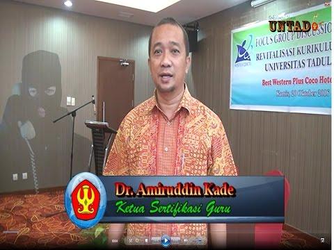 Pesan Dr. Amiruddin Kade Sebagai Ketua Sertifikasi Guru. Hati-hati Penipuan Via SMS Maupun Telpon Telepon