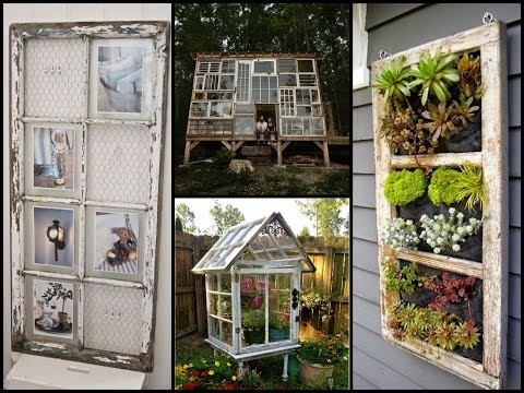 Repurposed Old Windows - Best Recycling Ideas