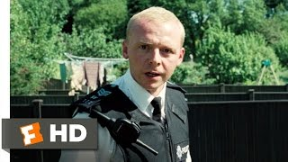 Hot Fuzz (2/10) Movie CLIP - Fence Jumping (2007) HD