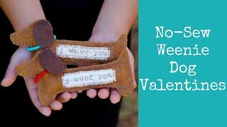 No-Sew Weenie Dog Valentines