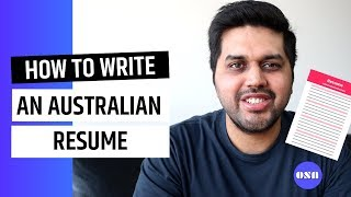 How to write an Australian Resume for part time and casual jobs
