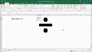 How to Type the Divide (Division) Symbol in Excel