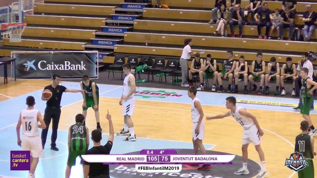 U14M - REAL MADRID vs. JOVENTUT  BADALONA - SEMIFINALES - Campeonato de España Infantil Masculino